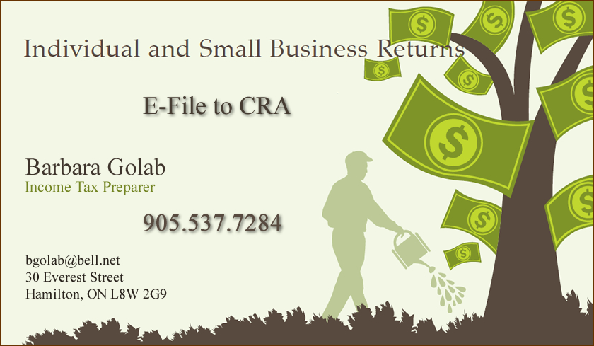 Income Tax E-File Hamilton Ontario