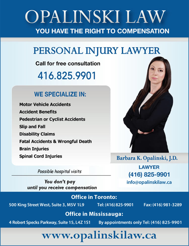 Barbara K. Opalinski Law Toronto Ontario Mississauga Windsor