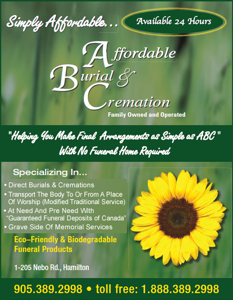 Affordable Burial & Cremation Hamilton Ontario
