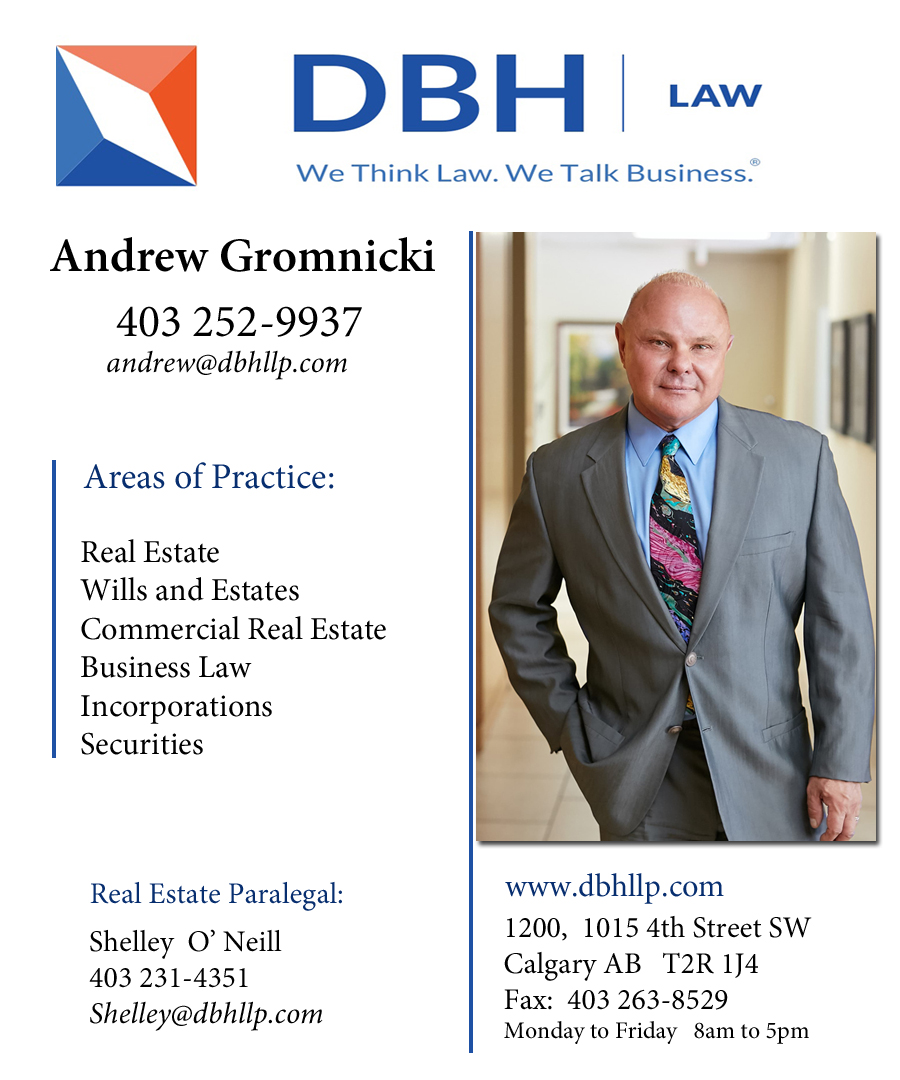 Andrew Gromnicki Barrister & Solicitor DBH Law Calgary Alberta