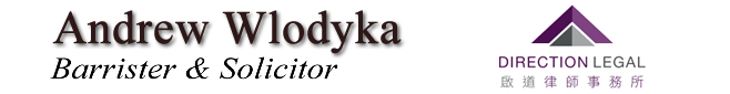 Andrew Z. Wlodyka Barrister & Solicitor Direction Legal LLP. Vancouver British Columbia