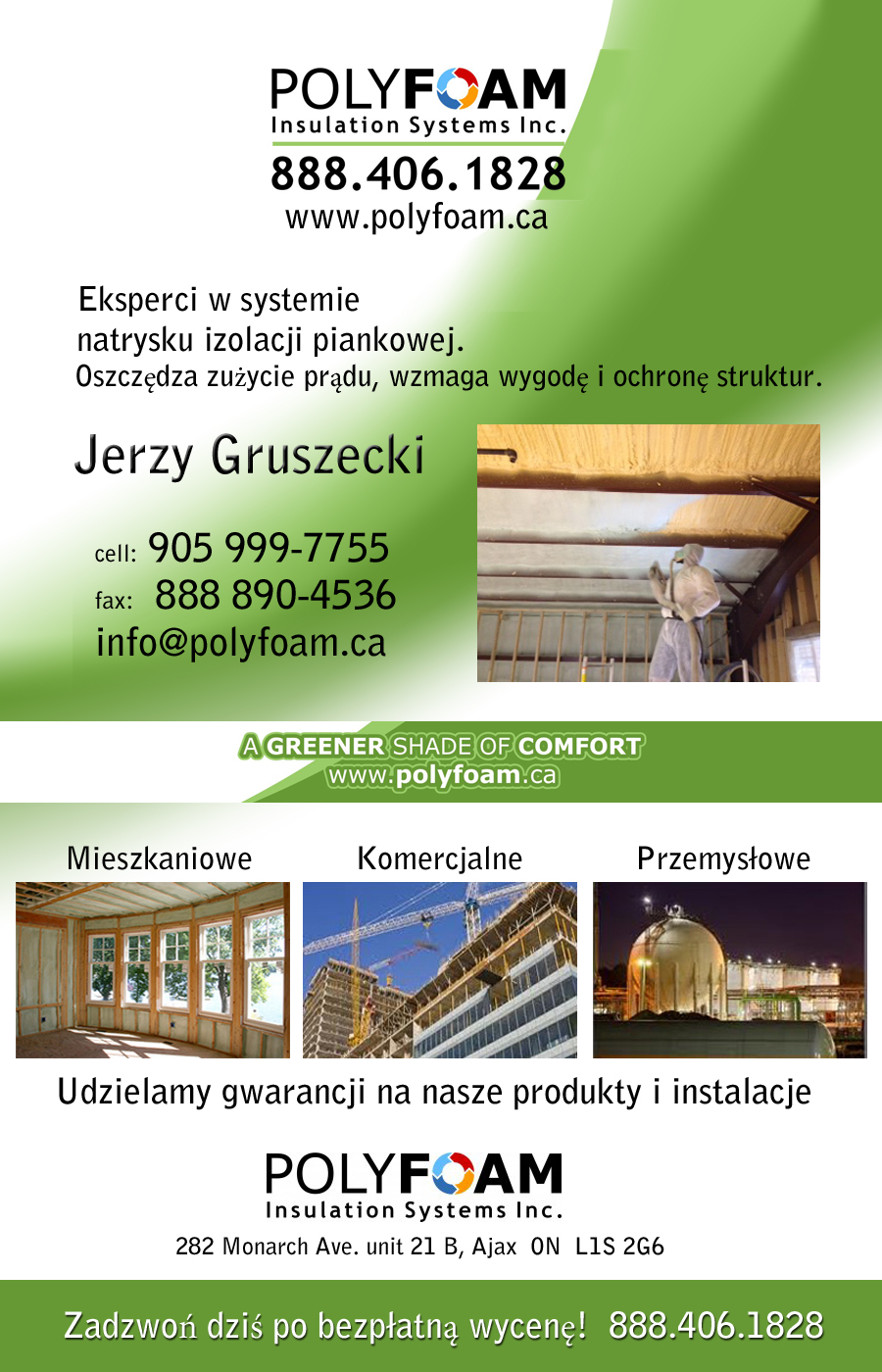 PolyFoam Insulation Systems Inc. Ajax Ontario